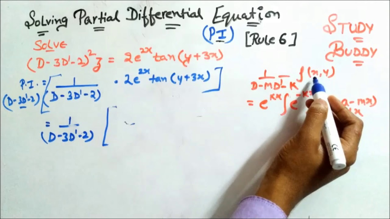 Solving Partial Differential Equation II Finding PI II Rule 6 [Part 2]