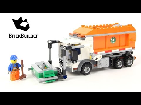 Lego City 60118 Garbage Truck Lego Speed Build Youtube