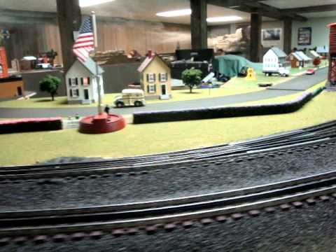 O gage train layout display december 10th