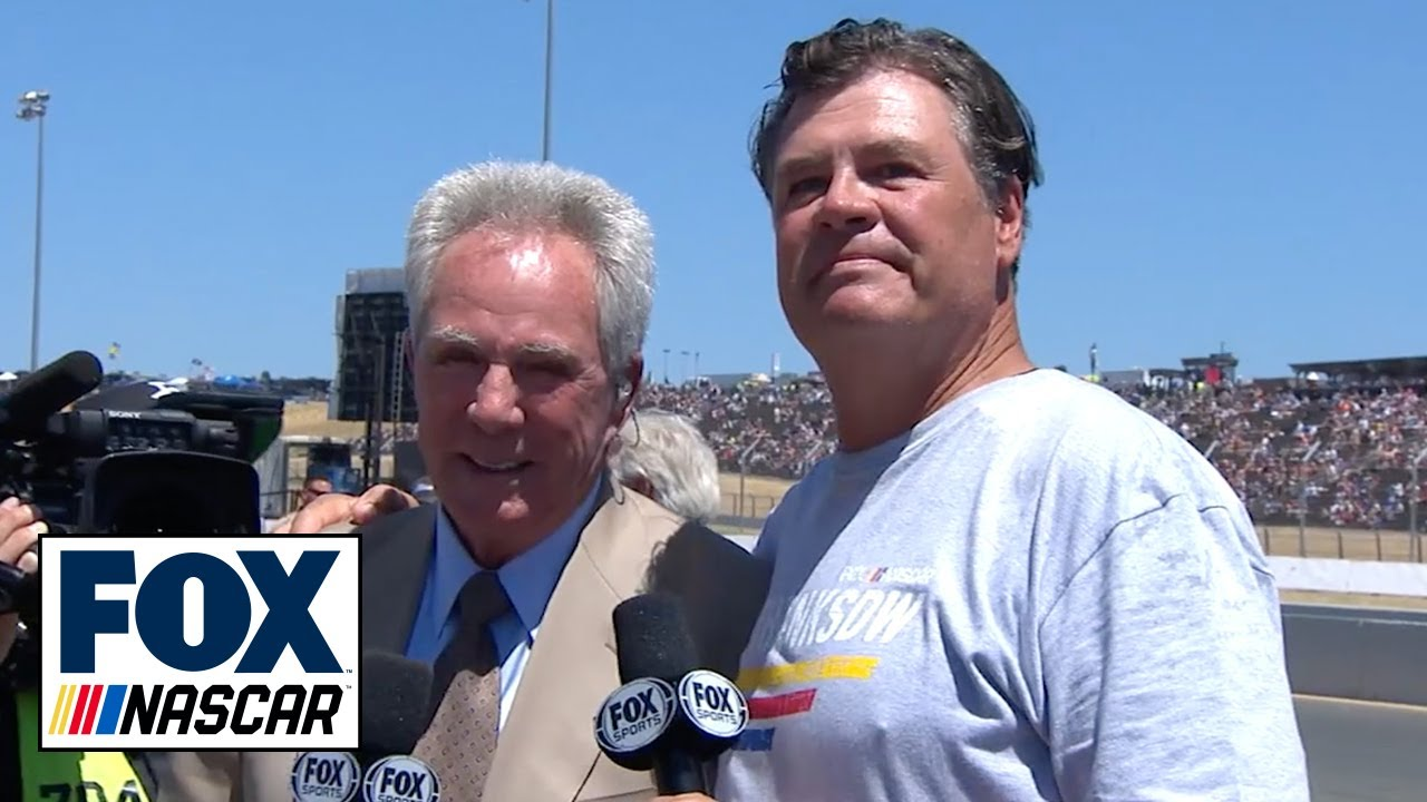 Michael Waltrip shares the gridwalk with his brother Darrell | NASCAR on FOX #1