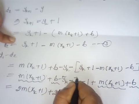 Bresenham Line Drawing Algorithm Easy : Bresenham s line drawing algorithm in computer graphics hindi