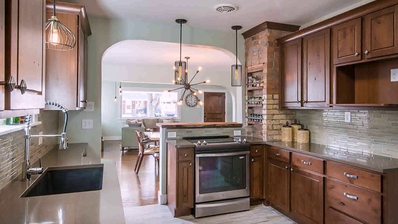 Kitchen With Exposed Brick Chimney Youtube