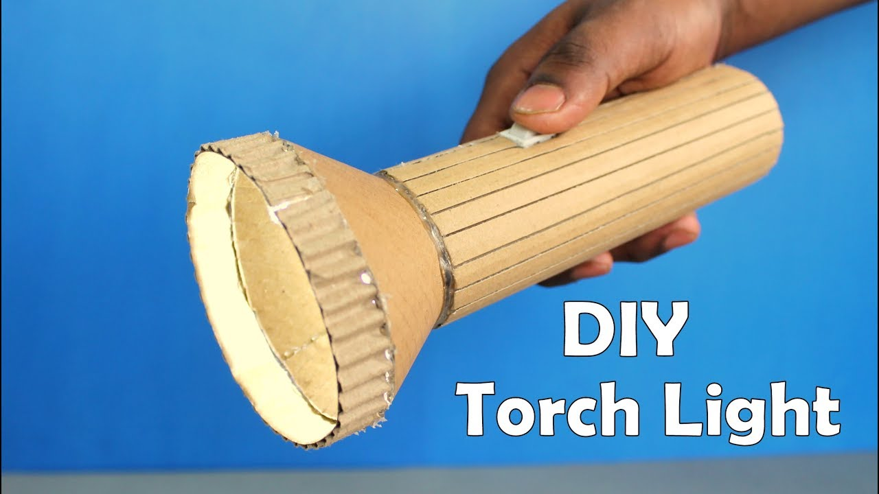 How to Make a Cardboard Torch Light at Home - DIY at Home