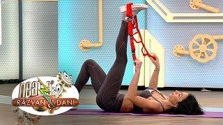 Fitness cu Diana Stejereanu. Stretching cu banda