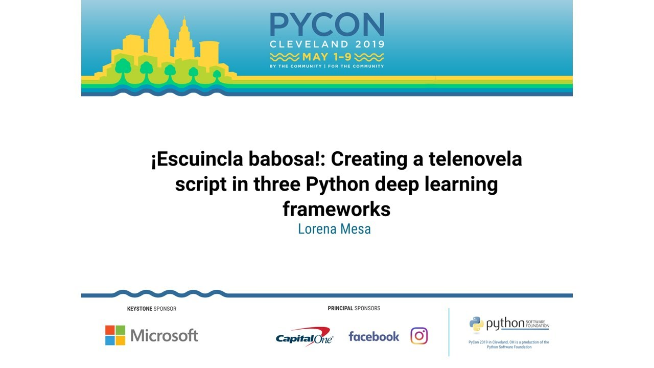 Image from ¡Escuincla babosa!: Creating a telenovela script in three Python deep learning frameworks