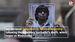 Gary Lineker leads triḃutes to legendary Diego Maradona