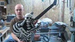 vuclip George Lynch Skull and Bones guitar custom built by Christopher Woods