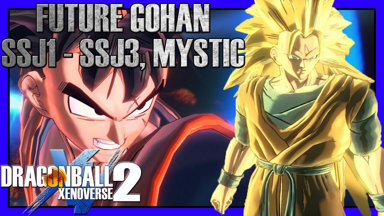 Future Gohan Ssj Ssj2 Ssj3 Mystic Xenoverse 2 Character Mods