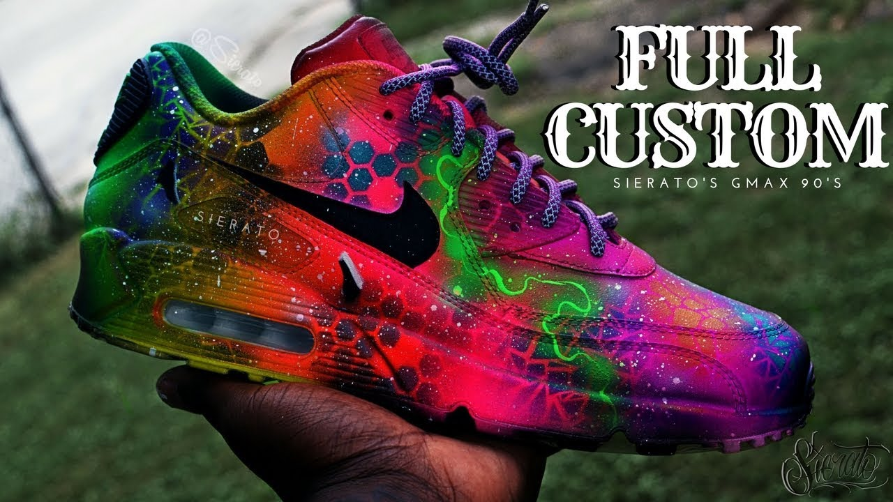 f52d8520f5 Full Custom | Galaxy Air Max 90s by Sierato - YouTube