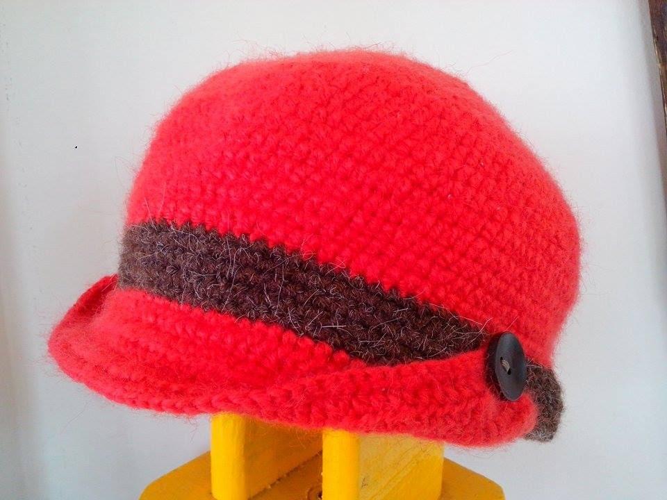 Boina Gorro Elaborada en Crochet - YouTube