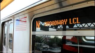 BMT Subway: R160 (N) and (Q) train ends at Astoria (Ditmars Blvd)