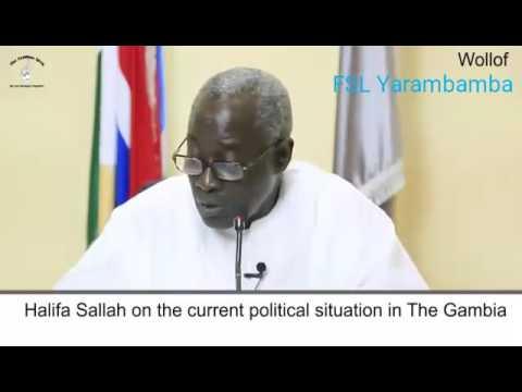 Gambia: Halifa Sallah Press Conference 16 January 2017 (Wollof)