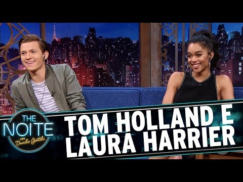 Entrevista com Tom Holland e Laura Harrier | The Noite (05/07/17)