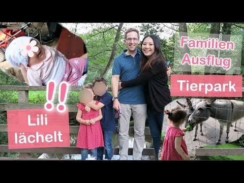 BABY LILI LÄCHELT! FAMILIEN TAG IM TIERPARK VLOG   Mamiseelen