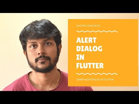 Alert Dialog in Flutter with Example | Androidmonks