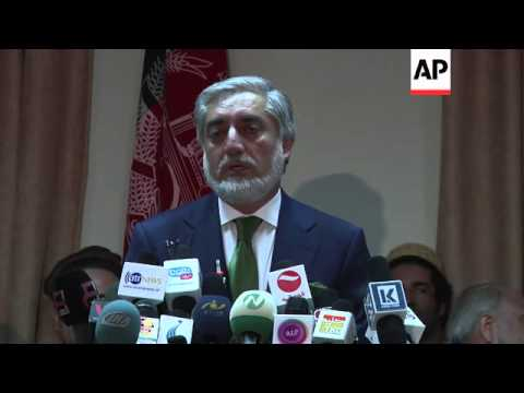 Frontrunner Abdullah calls for vote count to stop over fraud claims