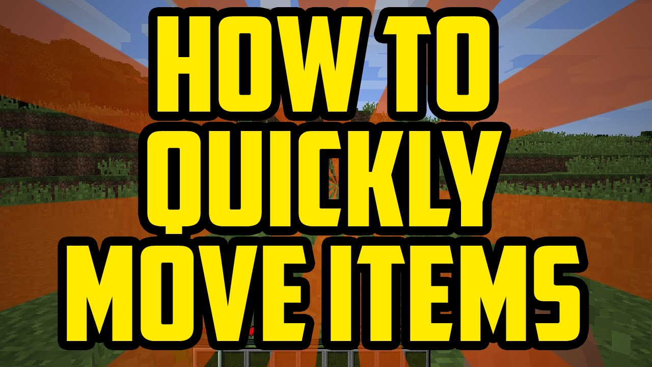 Minecraft HOW TO QUICKLY MOVE ITEMS 11 - Minecraft PC Transfer Items  Quickly Tutorial