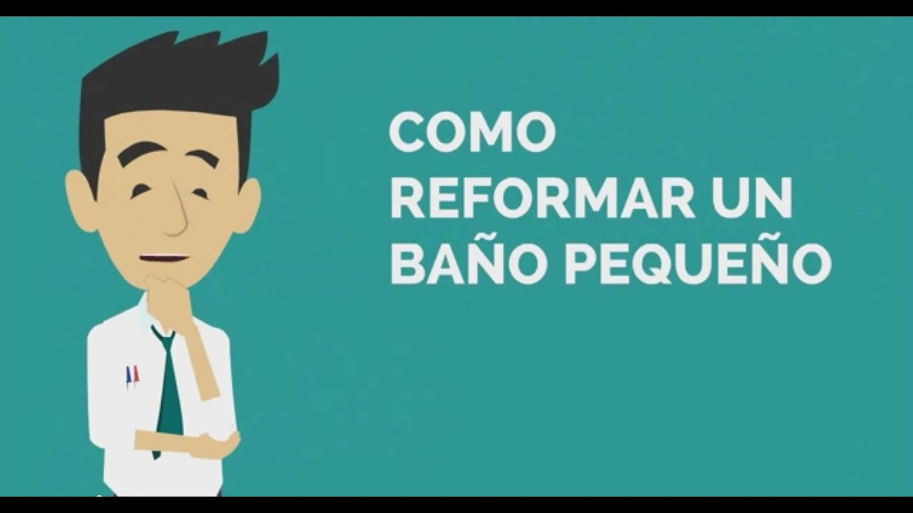 C mo reformar un ba o peque o youtube - Ideas banos pequenos ...