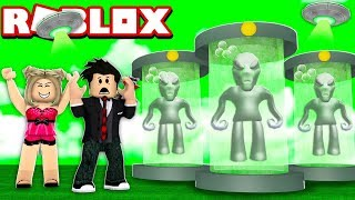 ALIEN INVASION OF THE GREEN ET'S | ROBLOX-Hotel Stories