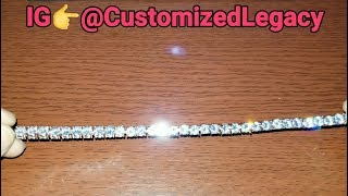 IceClique Jewelry Review| Iced Out Jewelry| 14K White Gold Plated Tennis Bracelet