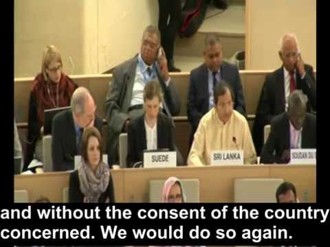 'Why did you praise Sri Lanka after it murdered 40,000?' | Hillel Neuer at U.N. Rights Council
