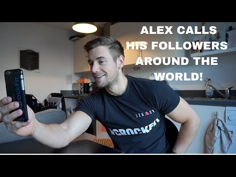 Alex calls his followers around the world!
