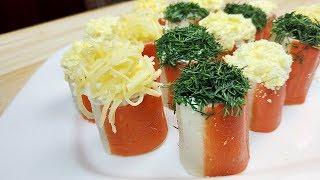 Обалденная закуска из крабовых палочек. Крабовая закуска праздничная.