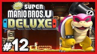 New Super Mario Bros U Deluxe - #12 - Conveyor Castle! (4 Player Switch Gameplay)