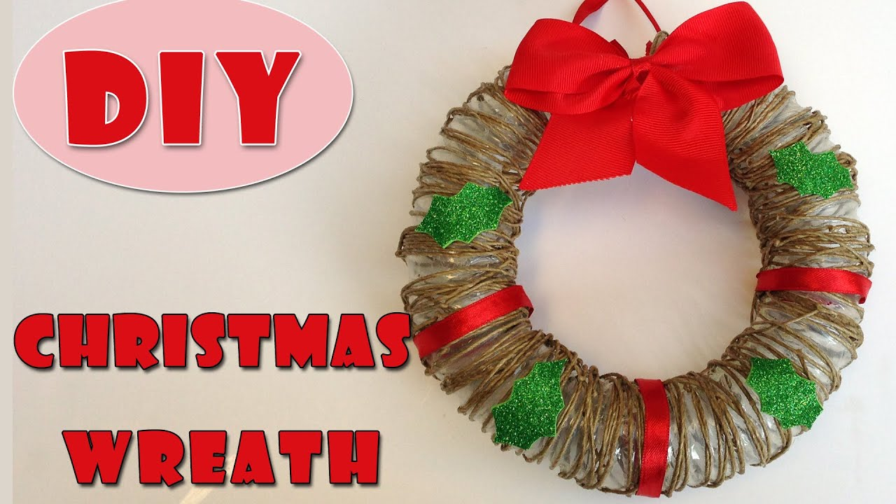 how to make a wreath for christmas christmas wreath ana diy crafts youtube - How To Make A Christmas Wreath
