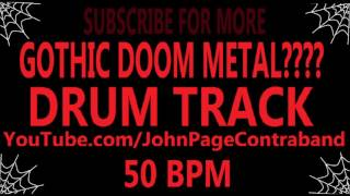 Gothic Doom Metal? Drum Track Industrial Rock 50 bpm