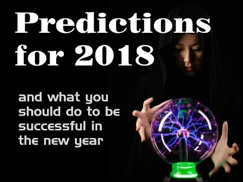 2018 Predictions - Market crash - sell #Bitcoin?