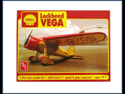 How to Build the Shell Lockeheed Vega AMT 1:48 Scale Kit #AMT950 Review