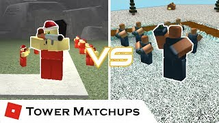 The Cheaper Explosive | Tower Matchups | Tower Battles [ROBLOX] ft. Cribsel
