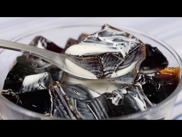 Coffee Jelly (Coffee Jello Recipe)   Cooking with Dog