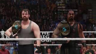 WWE2K19 Hell in a Cell 1080p HD (Roman Reigns + Dean Ambrose) Vs (Luke Harper + Bray Wyatt)