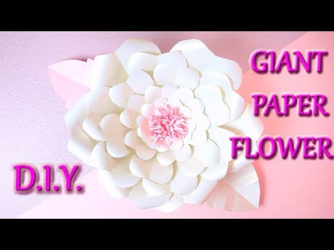 HOW TO MAKE GIANT PAPER FLOWER D.I.Y. FULL TUTORIAL / Paper Flower DIY
