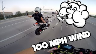 Riding With a Wind Advisory Warning! | Can the Grom handle it? | Forgetting My $1,000 Camera!