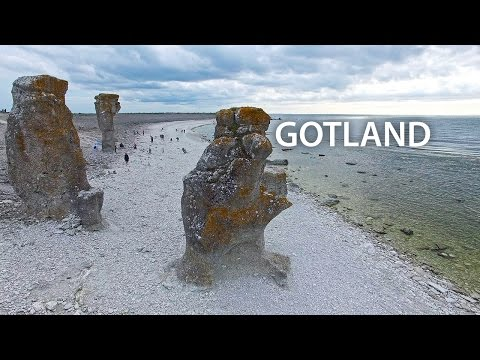 Flying over Gotland (4K)