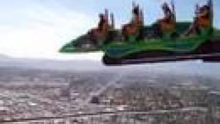 Las Vegas Stratosphere X-Scream Ride (Insane 900ft high!)