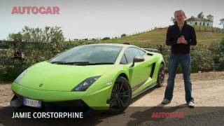 Lamborghini Gallardo Superleggera LP570-4 driven by autocar.co.uk