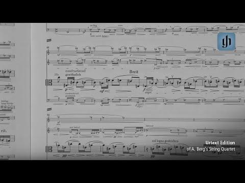 Urtext Edition of A. Berg's String Quartet