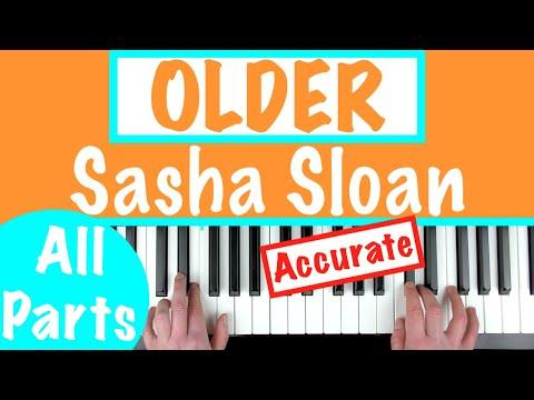 "How To Play ""OLDER"" - Sasha Sloan | Piano Chords/Accompaniment Tutorial"