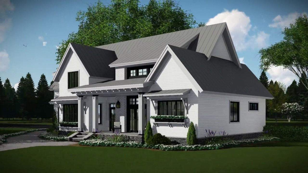the house designers house plans modern farmhouse house plan 098 00302 youtube 312