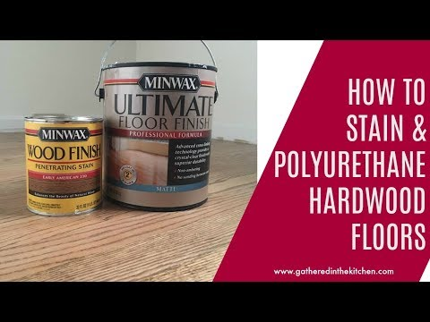 How to stain hardwood floors: How to apply water based polyurethane over oil based stain