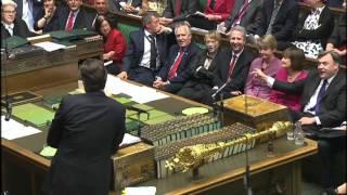 David Cameron tells MP 'calm down dear!'