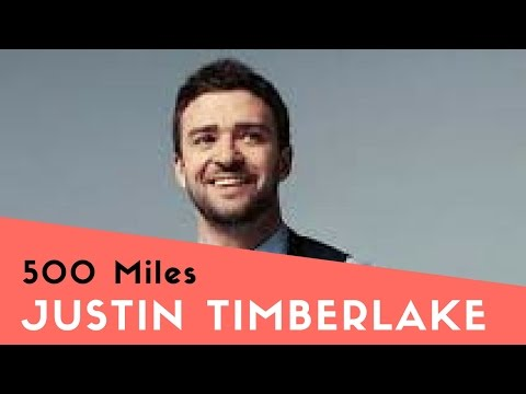 500 Miles cover | by Justin Timberlake | Free Music Sheet