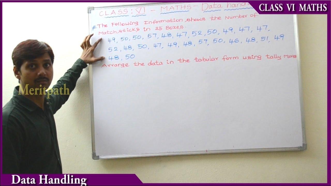 class 6 CBSE Maths Data handling part 3 - YouTube