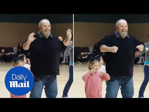 Tony Sandoval on The Breeze - Grandpa Dances with Granddaughter after she was too Nervous to Perform.