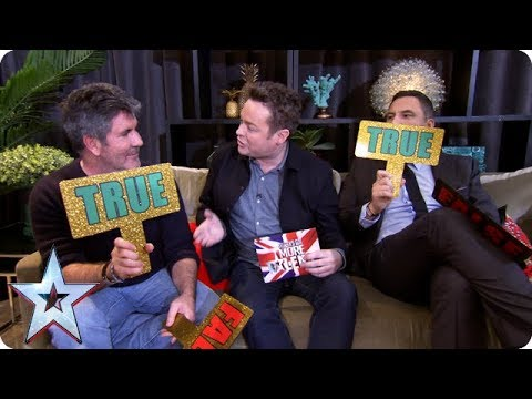 True or false with Simon Cowell and David Walliams  BGMT 2018