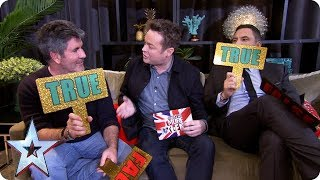 True or false with Simon Cowell and David Walliams | BGMT 2018
